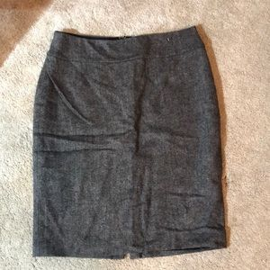 CAbi grey tweed pencil skirt fully lined